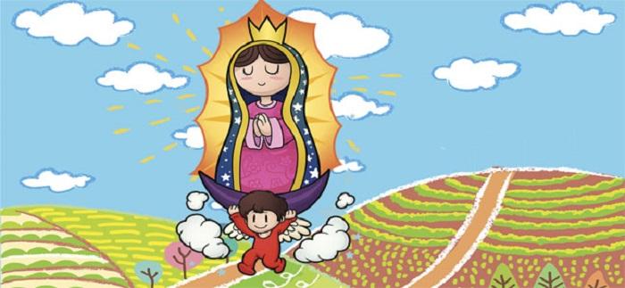 Virgen de Guadalupe caricatura